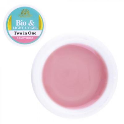 Global Fashion, Биогель для ногтей, моделирующий, розовый, Candy Rose, 15 гр