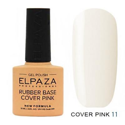 Elpaza, База каучуковая камуфлирующая, Rubber Base Cover Pink №11, 10 мл