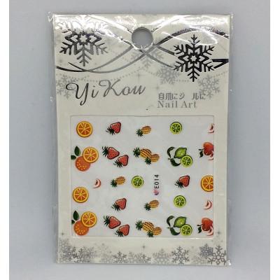 Yi Kou, Наклейки для дизайна ногтей, E014