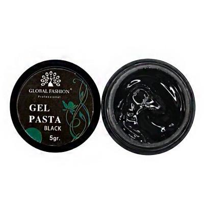 Global Fashion, Гель паста без липкого слоя, черный, 5 гр