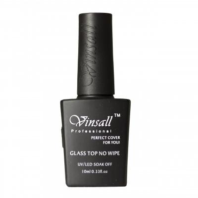 Vinsall, Глянцевое топовое покрытие без липкого слоя, Glass Top No Wipe, 10 мл