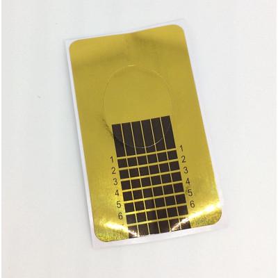 Одноразовая узкая форма, золотая, 1шт