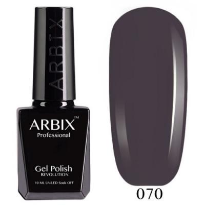 Гель-лак Arbix №070 Серый Селенит, 10 мл
