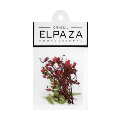 Elpaza, Сухоцветы для дизайна ногтей (малиновый)