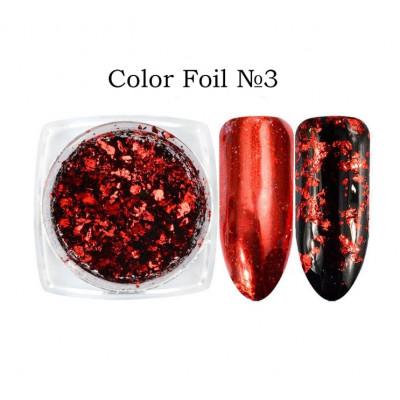 Global Fashion, Втирка для ногтей Color Foil, 03