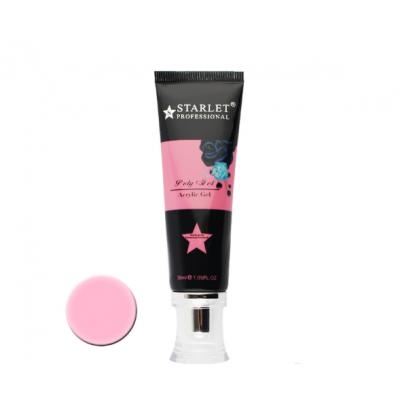 Starlet Professional, Полигель (акрил-гель) №04 темно-розовый, 30 мл