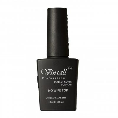 Vinsall, Топовое покрытие без липкого слоя, Top No Wipe, 10 мл