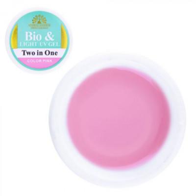 Global Fashion, Биогель для ногтей, моделирующий, прозрачно-розовый, Color Pink, 15 гр