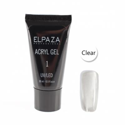 Elpaza, Акрил-гель, Acryl gel 001 Clear 30 мл