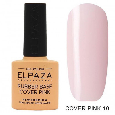Elpaza, База каучуковая камуфлирующая, Rubber Base Cover Pink №10, 10 мл