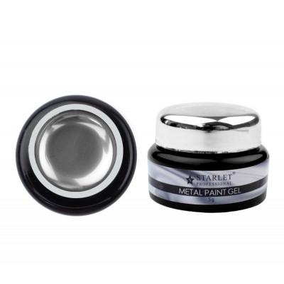 Starlet Professional, Гель-краска Metal Paint Gel, 5 гр