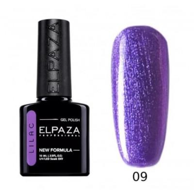 Гель-лак Elpaza Lilac №09 Фиалковая Роса, 10 мл