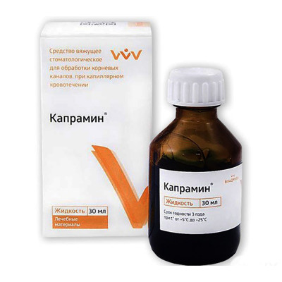 Кровоостанавливающее средство «Капрамин», 30 мл