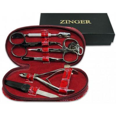 Zinger, Маникюрный набор 7104S, красный