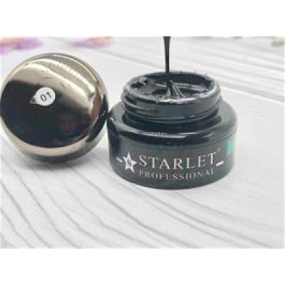 Starlet Professional, Гель-паутинка черный №01, 5гр